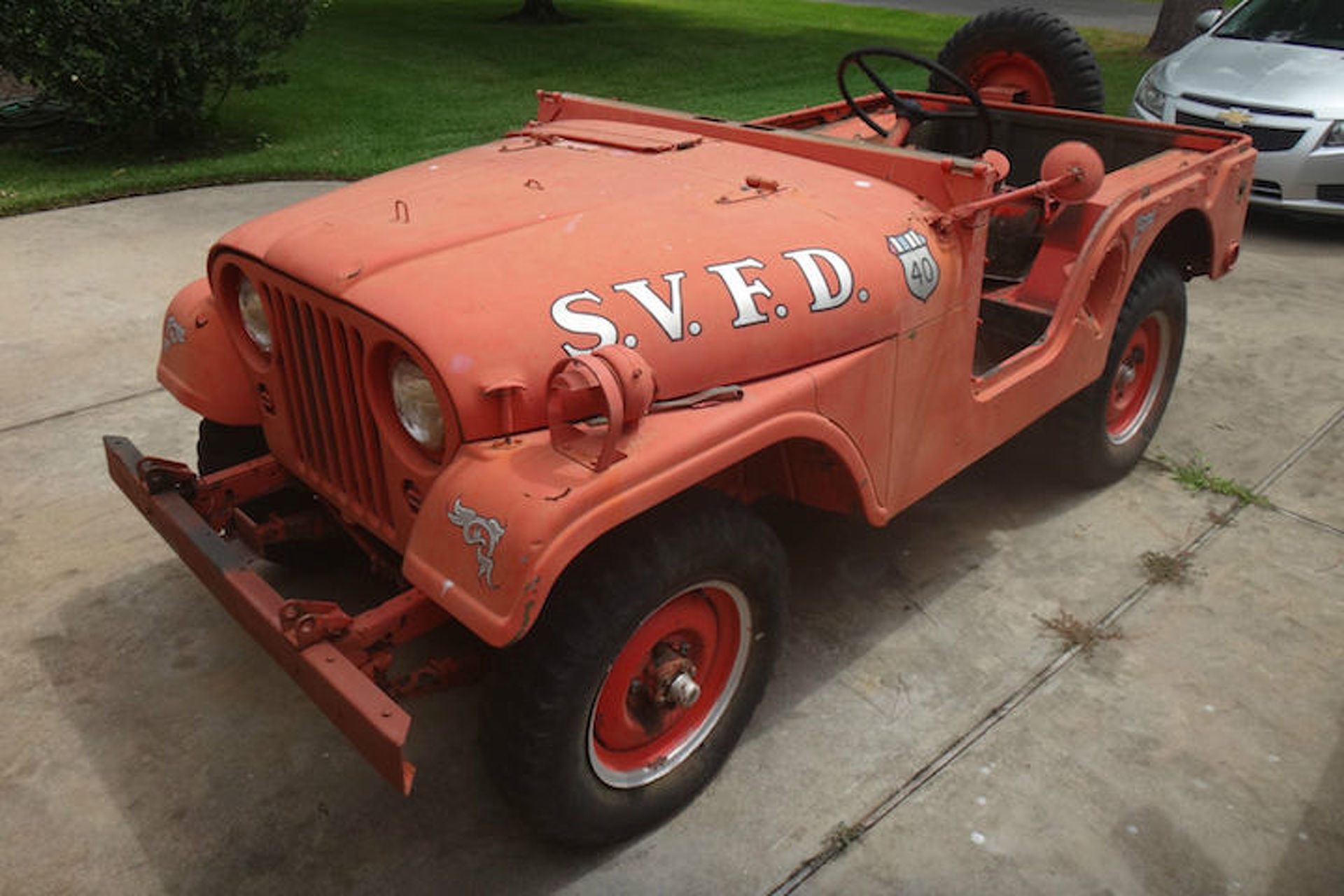 This 1953 willys jeep fire truck has less than 4000 original miles publicscrutiny Choice Image
