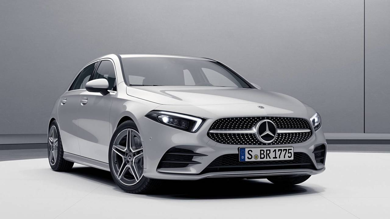 see the new mercedes a class in basic spec hubcaps included. Black Bedroom Furniture Sets. Home Design Ideas