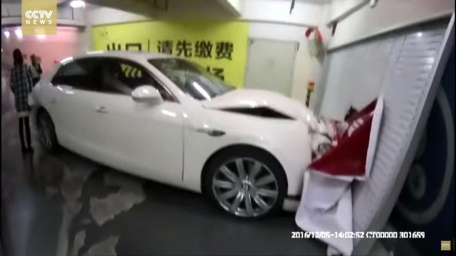 Bentley tackles wall, wall wins