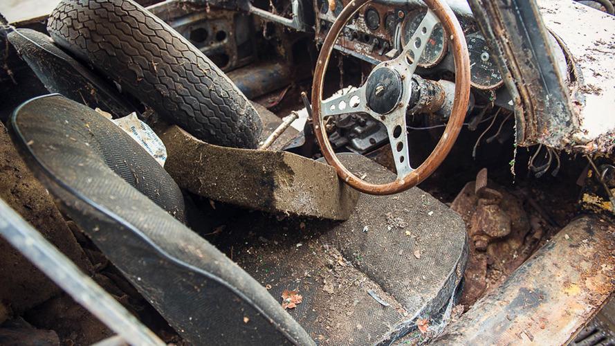 Jaguar E Type barn find