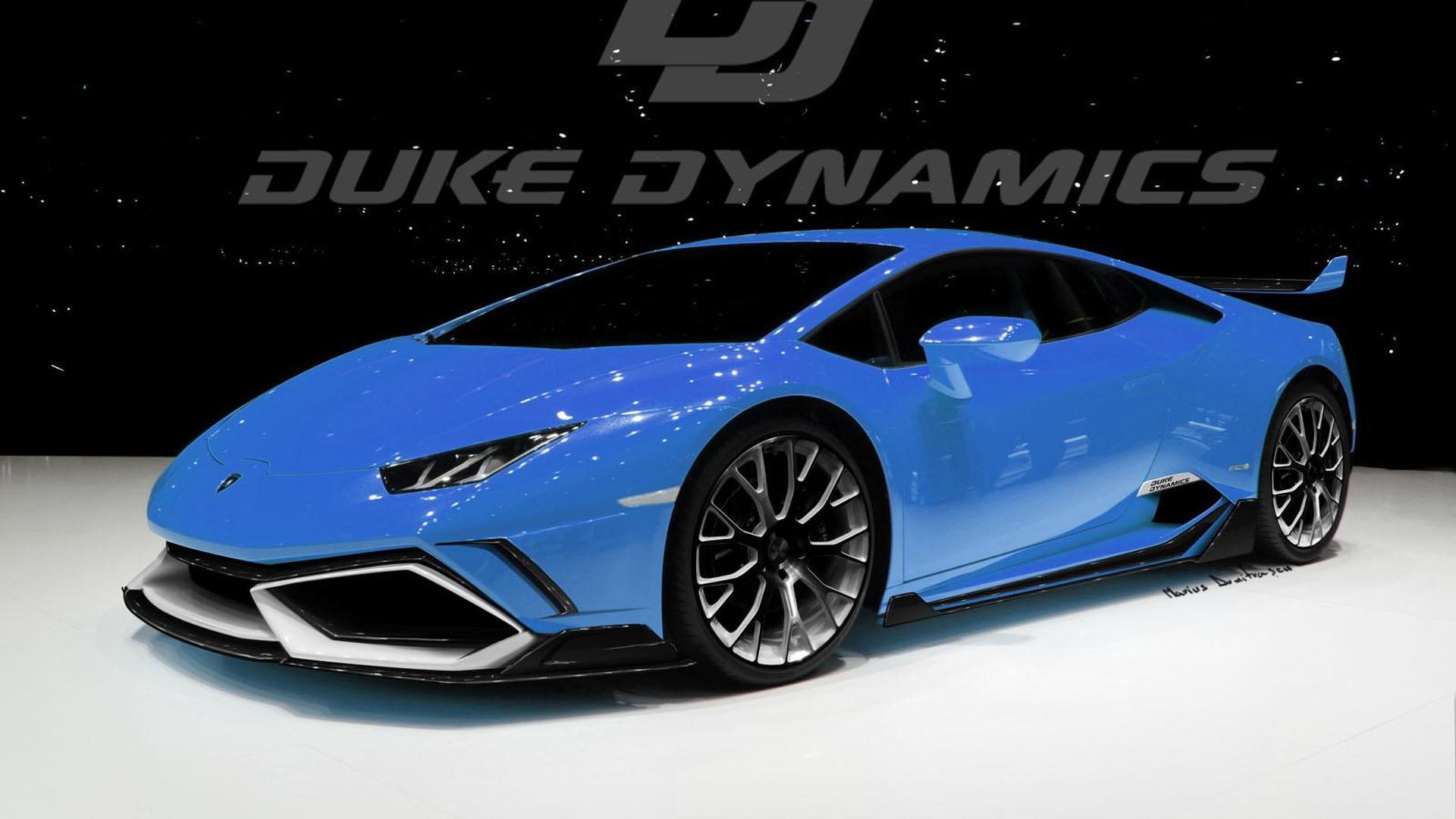 Синий Lamborghini Huracan от Duke Dynamics