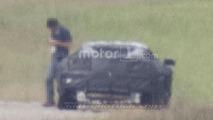 Mid-engined Chevy Corvette spy photo