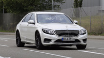 2020 Mercedes S-Class test mule spy photos