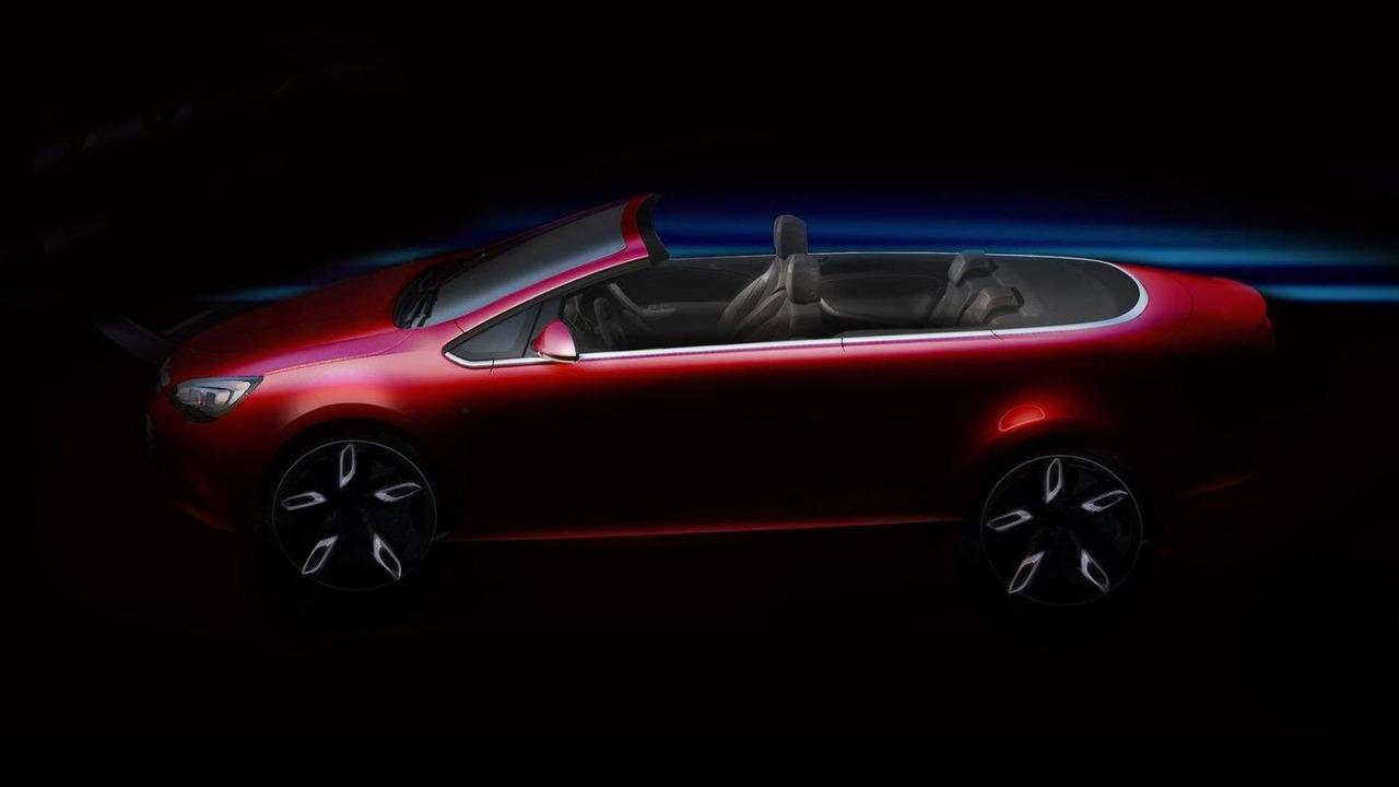 2013 Opel Vauxhall Astra Cabriolet teaser sketch, 1600, 09.06.2011