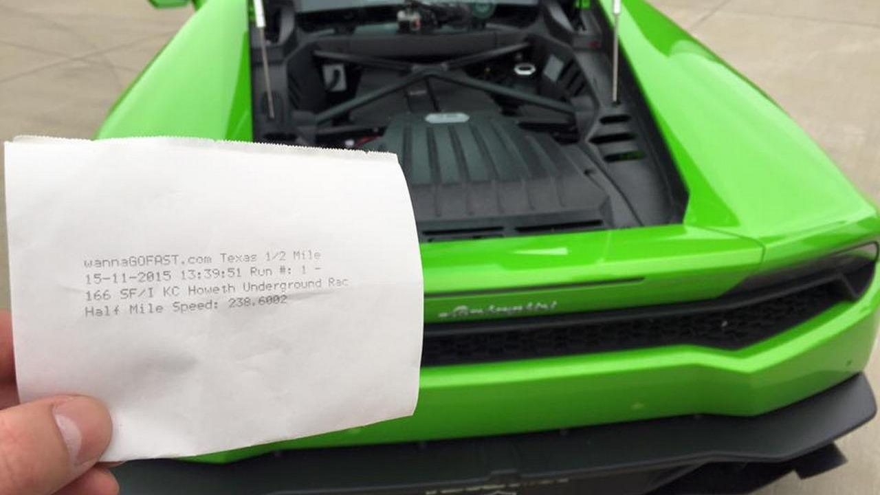 Lamborghini Huracan half mile world record