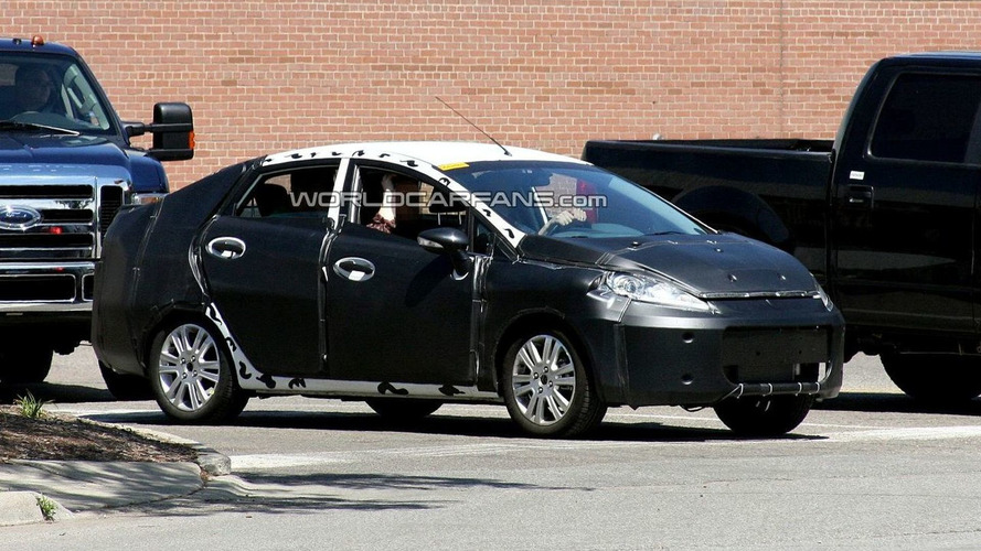 Ford Fiesta Sedan Spy Photos In Detroit