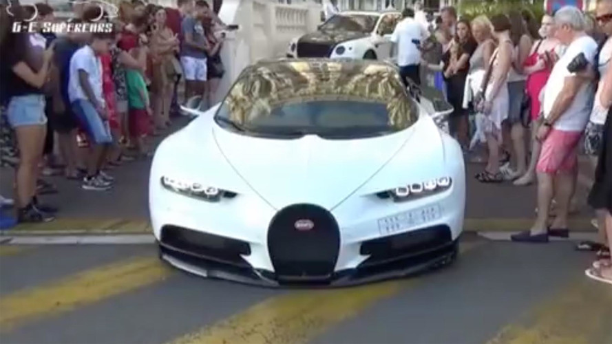 Cringe At The Sound Of This Bugatti Chiron Scraping On Pavement