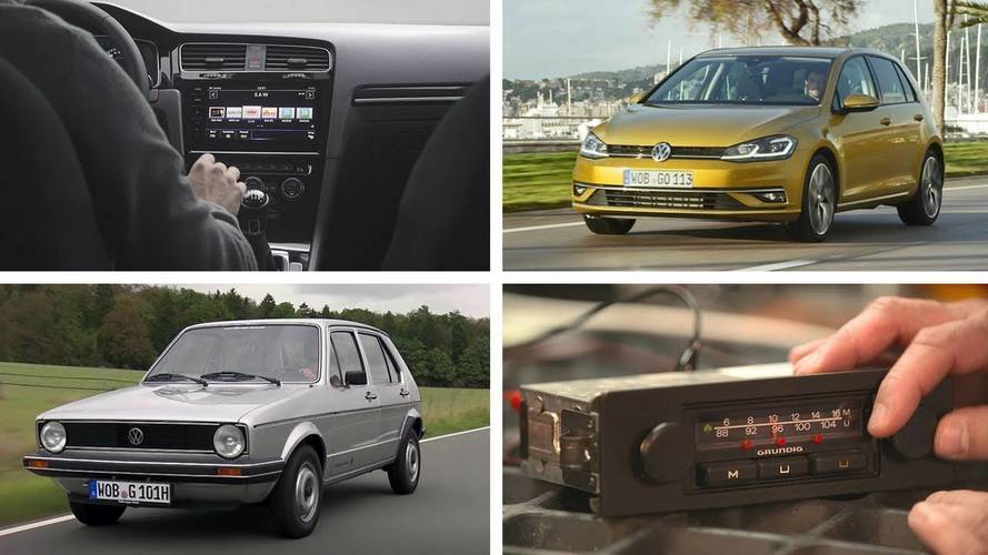 See how the VW Golf's radio has evolved over the years
