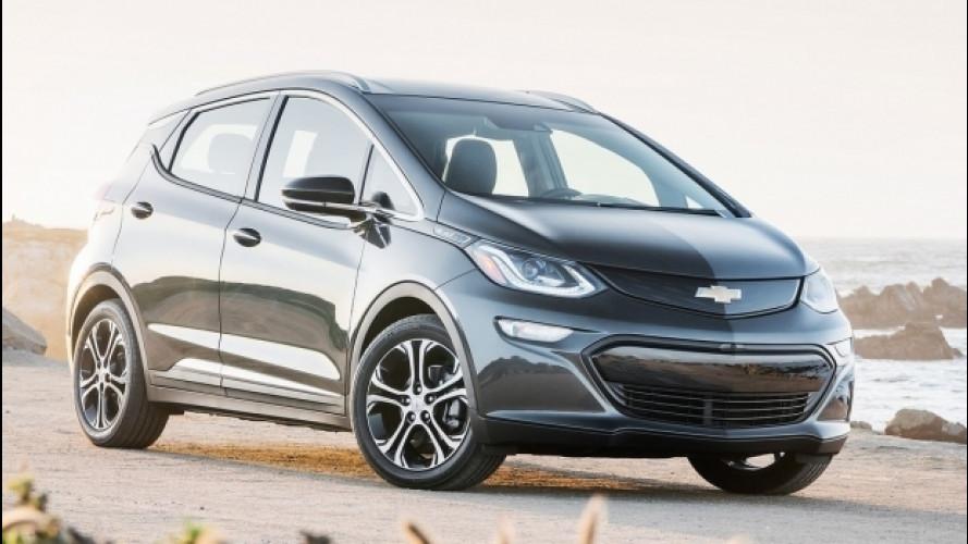 Chevrolet Bolt è auto dell'anno in Nord America