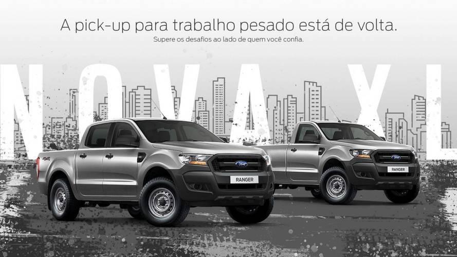 Ford confirma retorno da Ranger XL como nova versão de trabalho