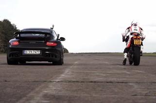 Porsche 911 GT2 RS vs. Ducati 1199 Panigale in a 200 MPH Drag Race