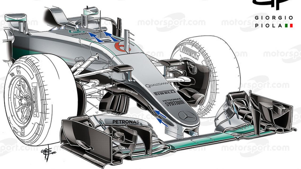 Mercedes W07 new nose