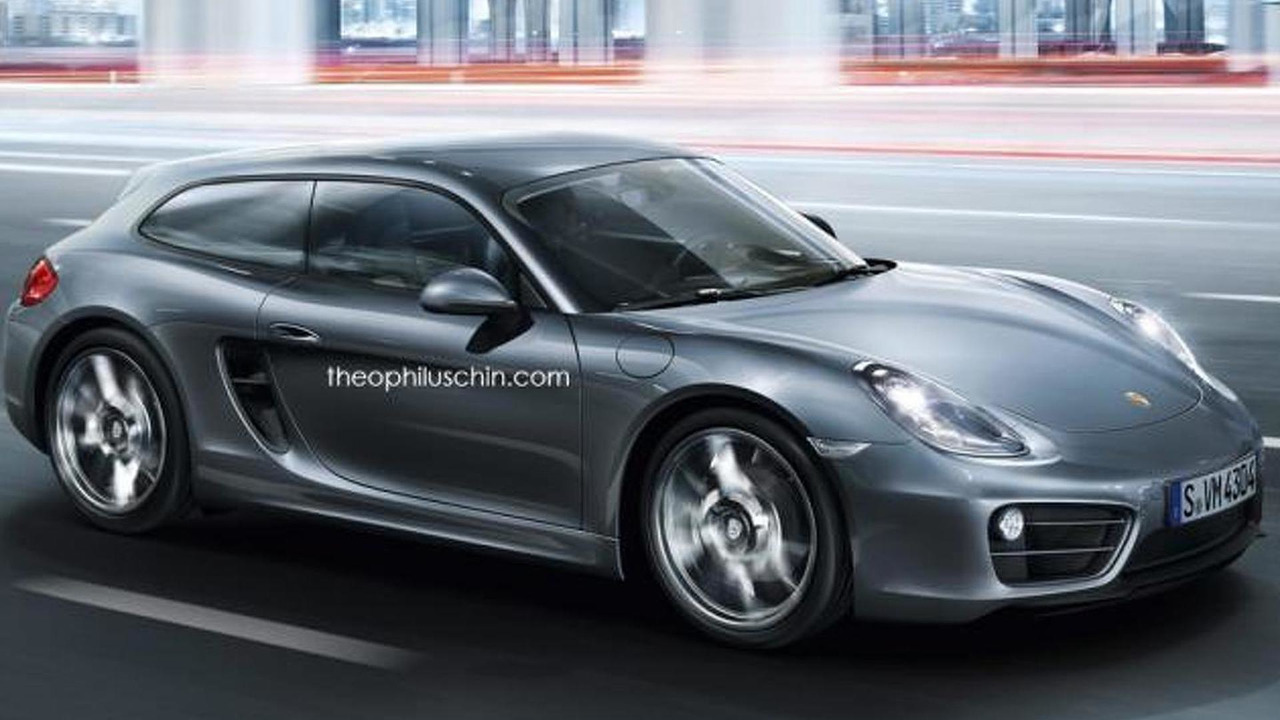 Porsche Cayvan Render Is An Improbable Cayman Shooting Brake