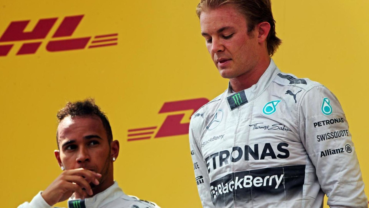 Lewis Hamilton (GBR) with team mate Nico Rosberg (GER), 22.06.2014, Austrian Grand Prix, Spielberg / XPB