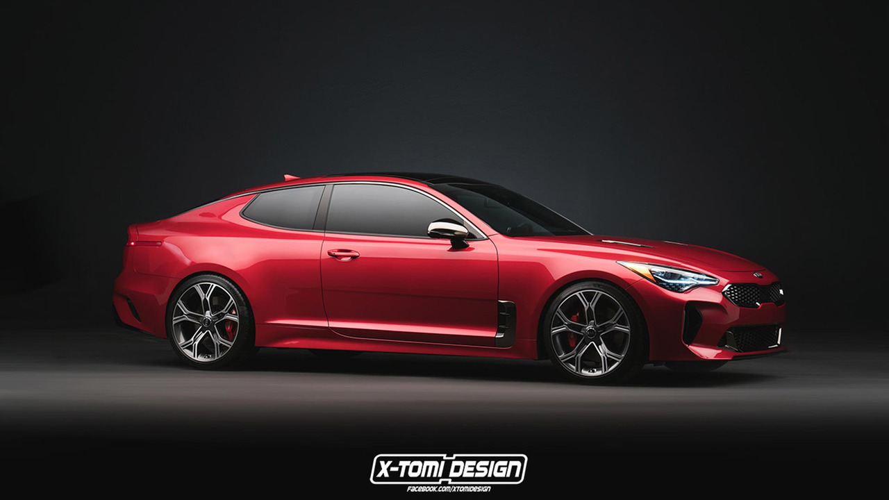 Kia Stinger Coupe Rendering