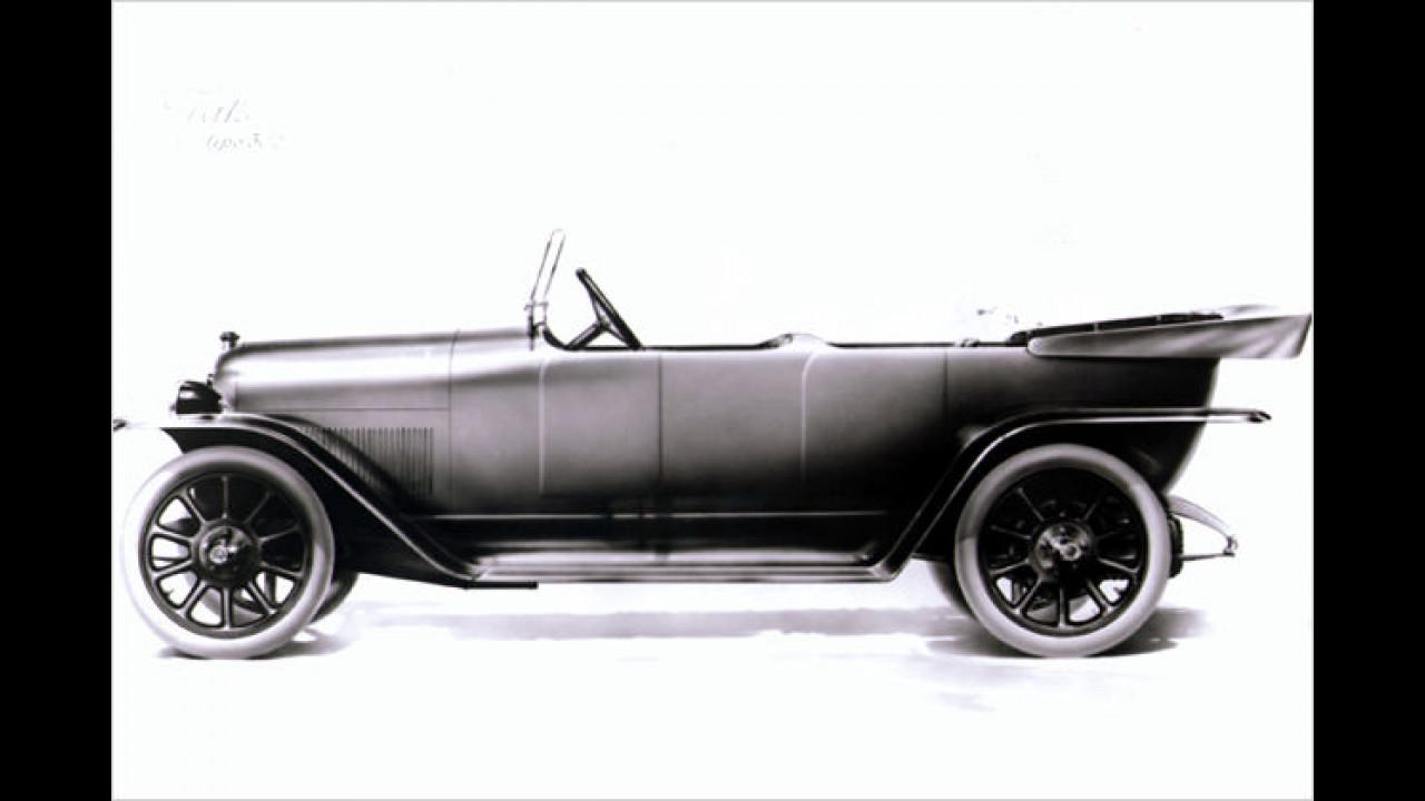 1924 schoss Fiat den 502 Torpedo nach Genf. Das Modell war die Luxusversion des Mittelklassewagens 501. Mit 23 PS starkem Vierzylinder-Motor kam der 502 auf 73 km/h