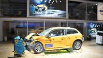 Crashed Volvo C30 Electric on display in Detroit at NAIAS 10.01.2011