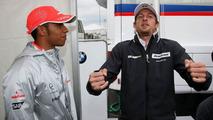 Lewis Hamilton (GBR), McLaren Mercedes, Jenson Button (GBR), Brawn GP, German Grand Prix, Saturday, 11.07.2009 Nürburg, Germany
