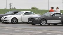 2012 Mercedes SLK spied next to current model