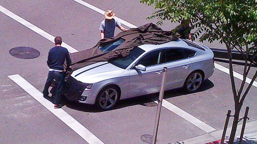 Audi A5 Sportback Caught Completely Undisguised at Photo Shoot