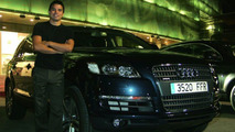 Javier Saviola and his new Audi Q7