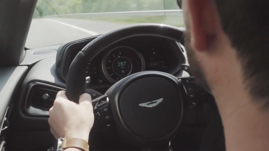Aston Martin DB11'in 290 km/s hıza çıkışını izleyin