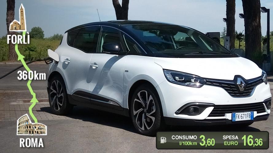Renault Scenic Hybrid Assist, la prova dei consumi reali