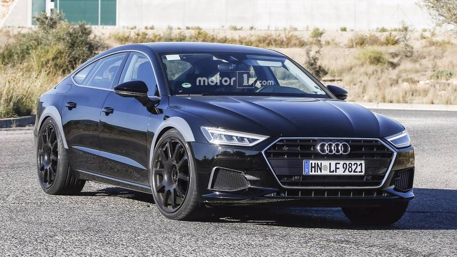 2019 audi rs7 sportback spied for the first time. Black Bedroom Furniture Sets. Home Design Ideas