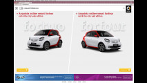 smart fortwo e forfour red & the city