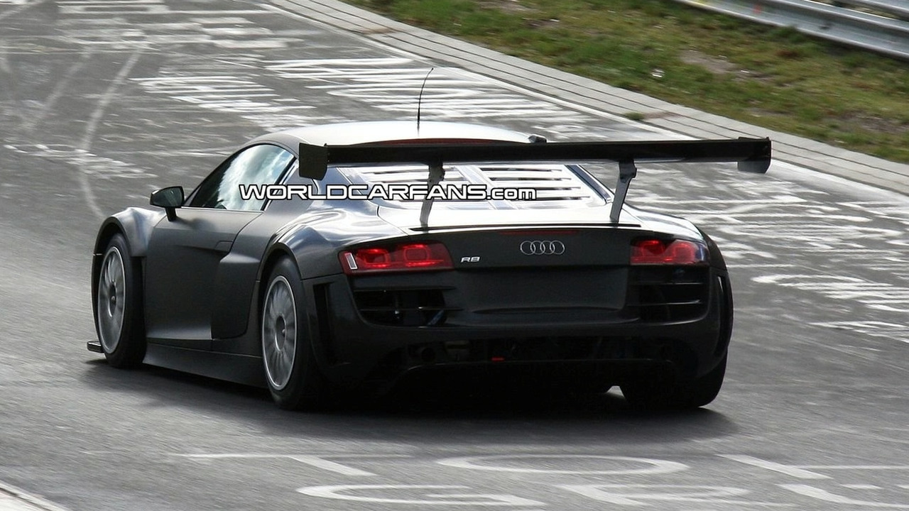 Audi R8 GT3 spy photo on Nurburgring