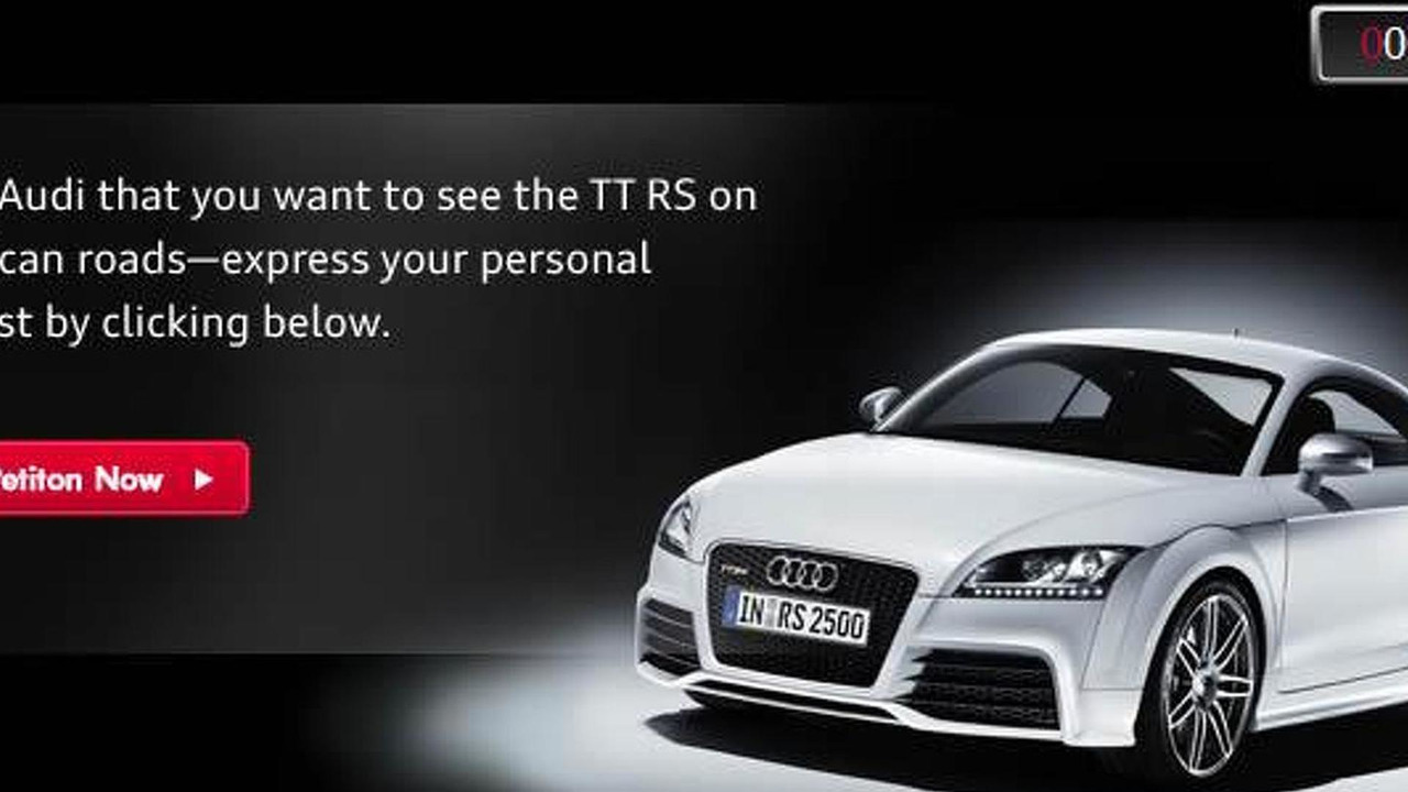 Audi TT RS petition