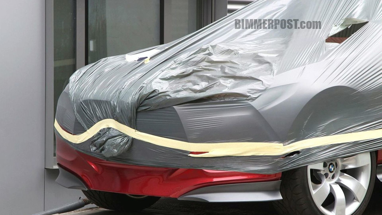 BMW sustainable sports car concept car spy photo