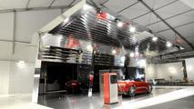 Red Audi e-tron Spyder featured in Design Miami art installation