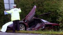Rowan Atkinson's McLaren F1 accident / SWNS