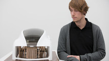 """Design student Adrian Mankovecký from the Academy of Fine Arts and Design in Bratislava with his """"Wood Aerodynamics"""" concept 26.11.2012"""