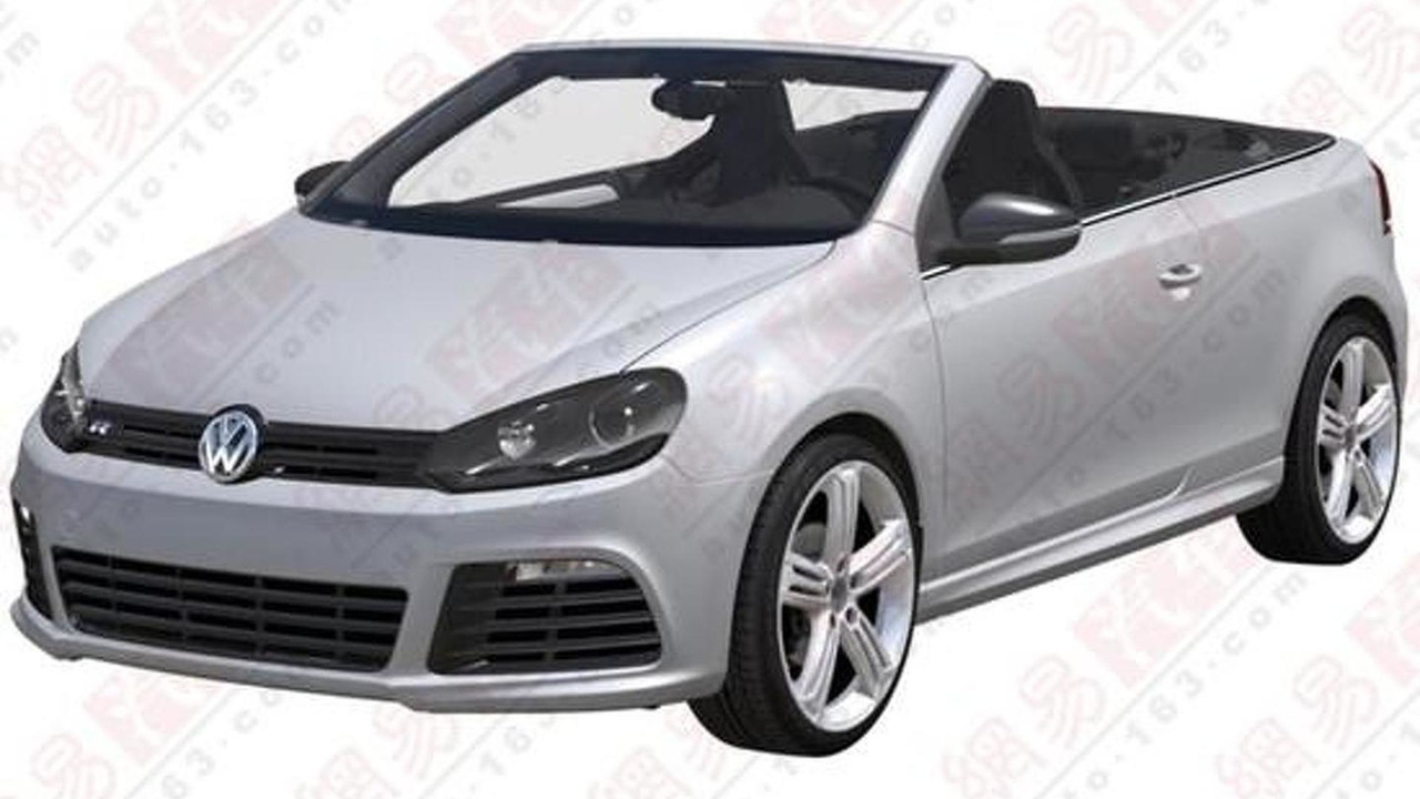 Volkswagen Golf R Cabrio patent photos 24.5.2012