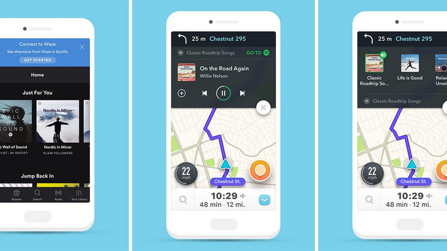 Waze e Spotify se integram no sistema Android
