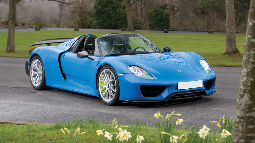 This Is The Only Arrow Blue Porsche 918 And It's For Auction
