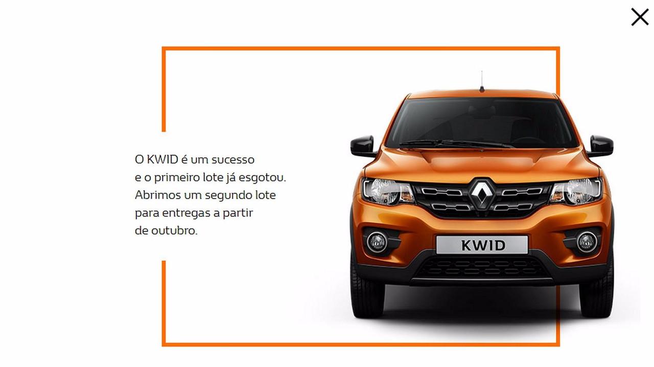 Reservas para o Renault Kwid