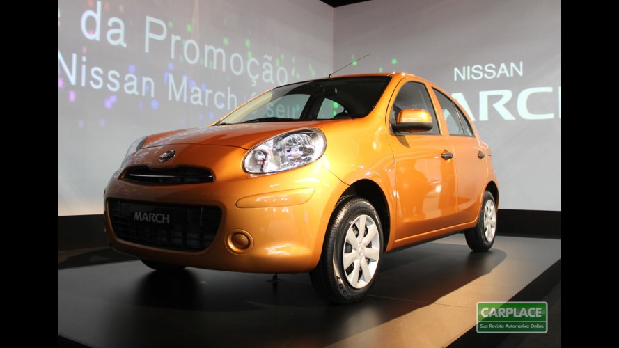 Nissan inicia venda do March 1.6 no México por R$ 16.200 - Consumo chega a 20,9 km/l