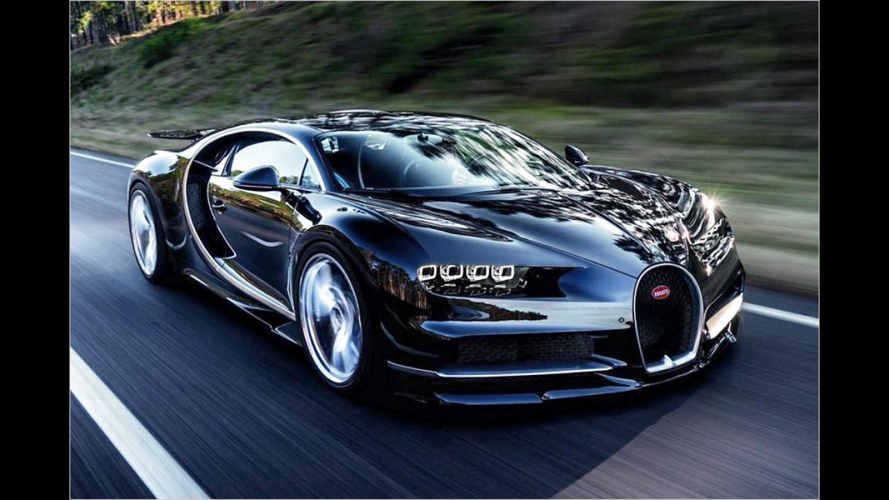Schnellster Sprint von 0-100 km/h: Bugatti Chiron, 2,5 Sekunden
