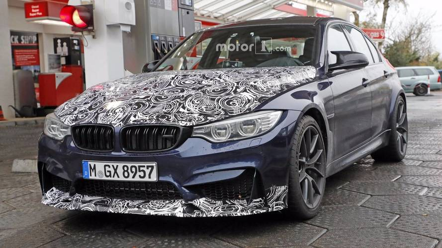 2018 BMW M3 CS Caught Feeding Its 460-Horsepower Engine