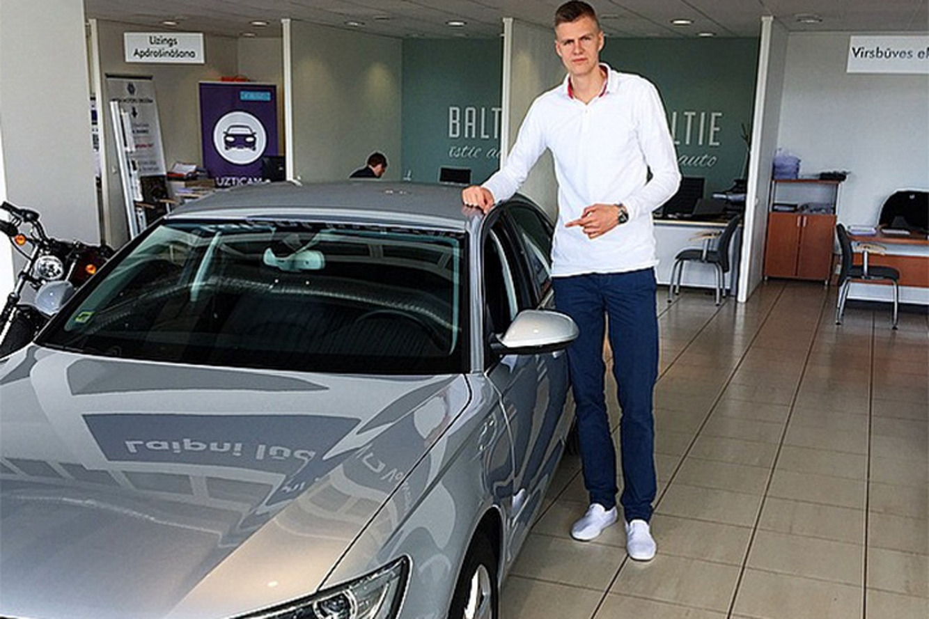 Knicks Draft Pick Kristaps Porzingis Loves 'Riding Dirty' in Audis