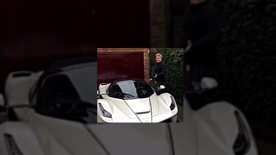 Gordon Ramsay shows off his brand-new LaFerrari Aperta
