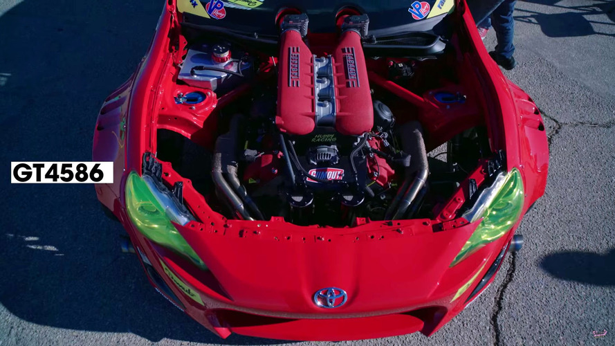 Toyota GT4586 on track video
