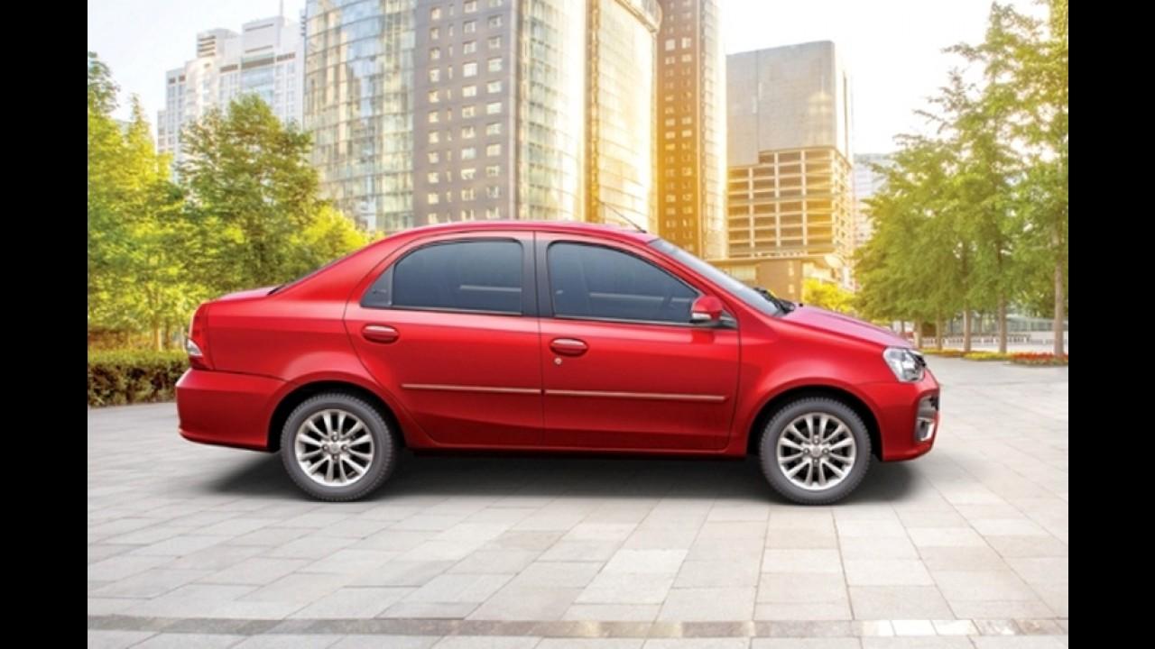 Toyota Etios 2017 reestilizado é lançado na Índia - fotos oficiais