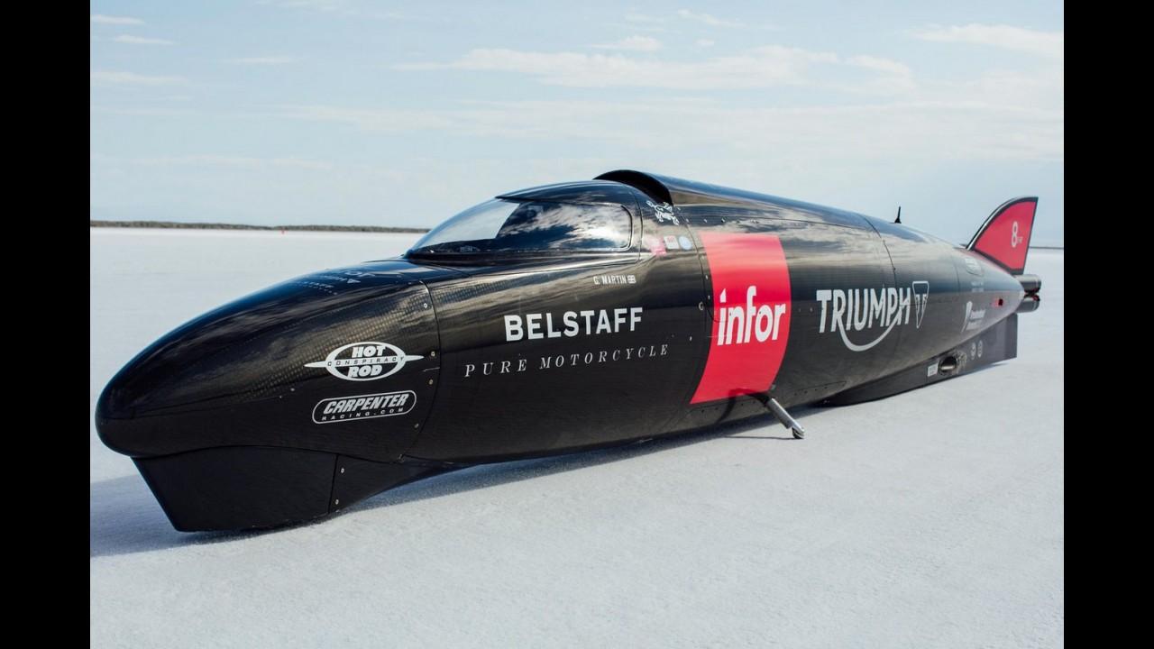 Triumph bate próprio recorde de velocidade em deserto de sal: 438,72 km/h!