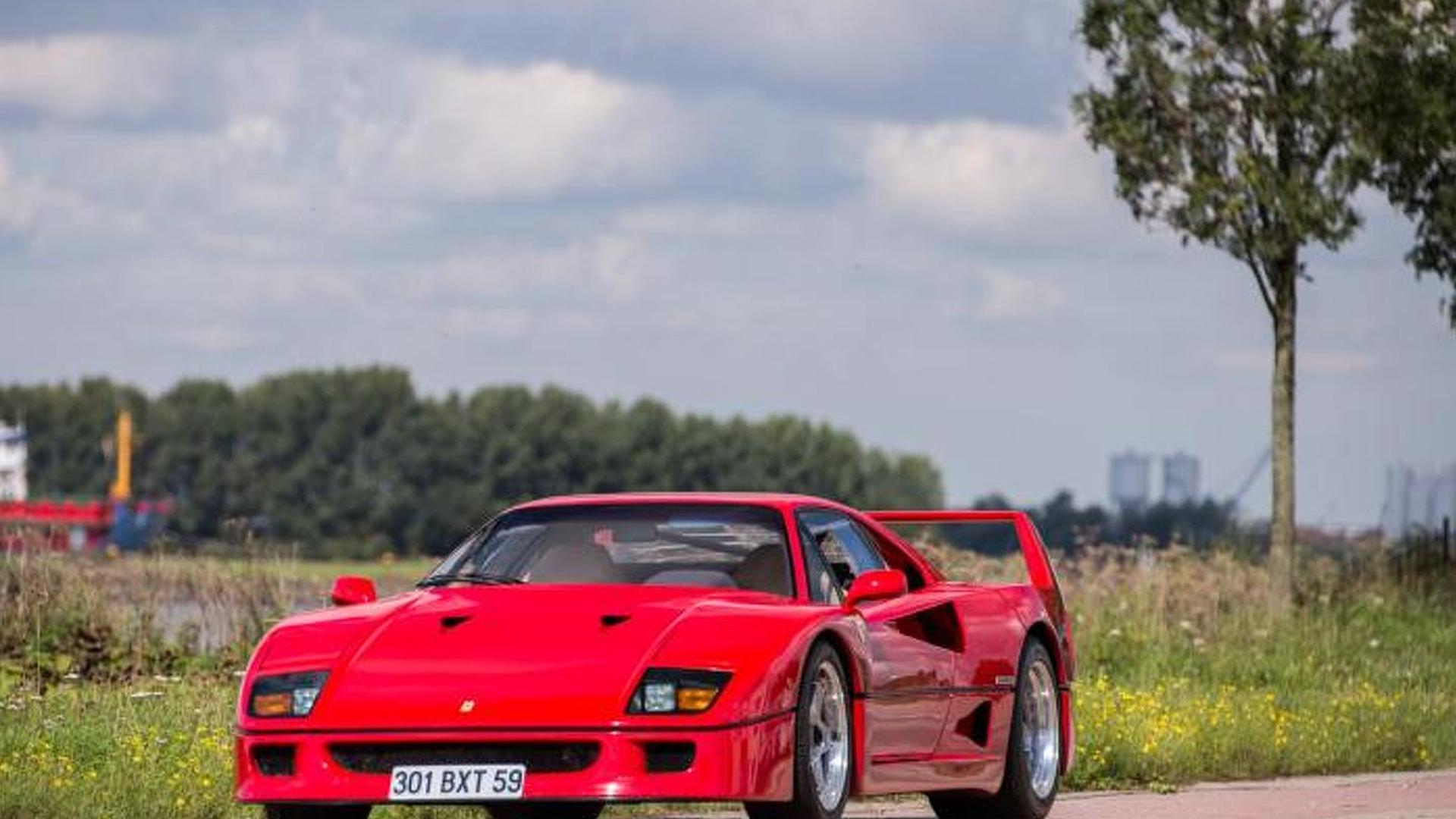 Ferrari f40 previously owned by nigel mansell sold for 690000 vanachro Image collections