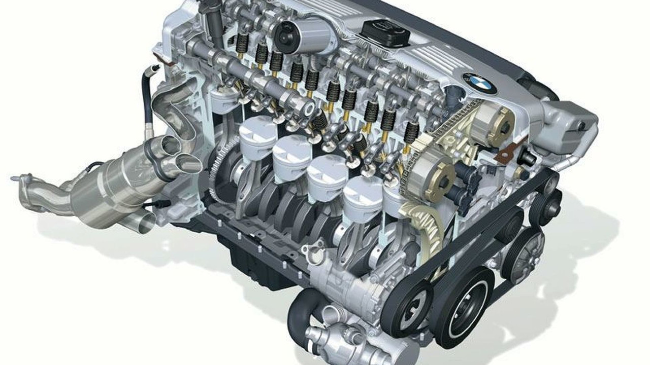 BMW 6 cylinder petrol engine with VALVETRONIC