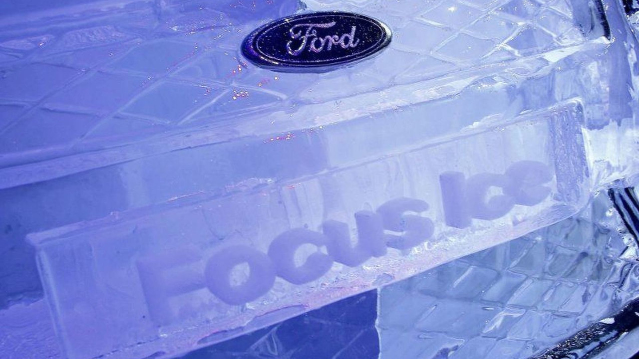 Ford Focus Ice Sculpture